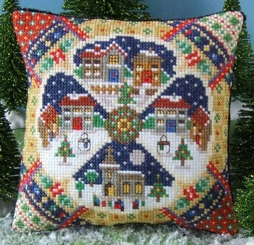 Christmas_Village_Mini_Cushion_Cross_Stitch_Kit