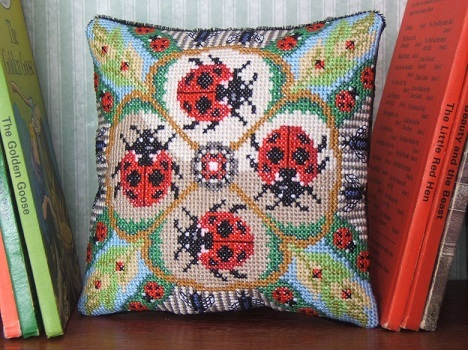 Ladybirds_and_Bugs_mini_cushion_cross_stitch_kit