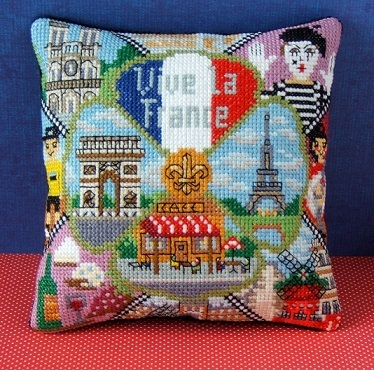 Vive_la_France_Mini_Cushion_Cross_Stitch_Kit