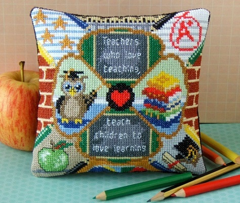 Teacher_Mini_Cushion_Cross_Stitch_Kit