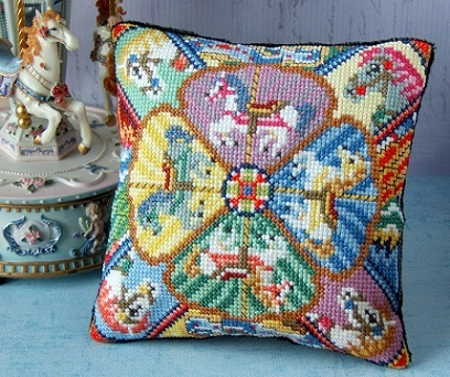 Carousel_Mini_Cushion_Cross_Stitch_Kit