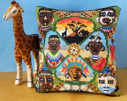 Tribal_Africa_Mini_Cushion_Cross_Stitch_Kit