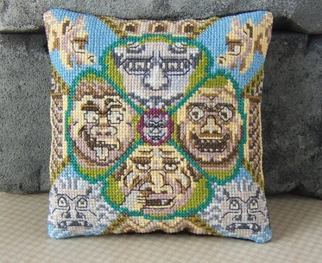 Ghastly_Gargoyles_Mini_Cushion_Cross_Stitch_Kit