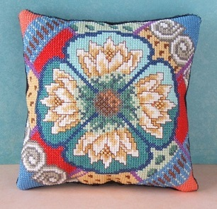 Water Lilies Mini Cushion Cross Stitch Kit