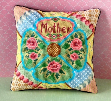 Mother's Day Mini Cushion Cross Stitch Kit