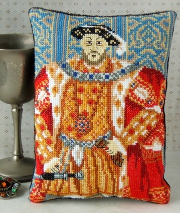 Henry_VIII_Portrait_Mini_Cushion_Cross_Stitch_Kit