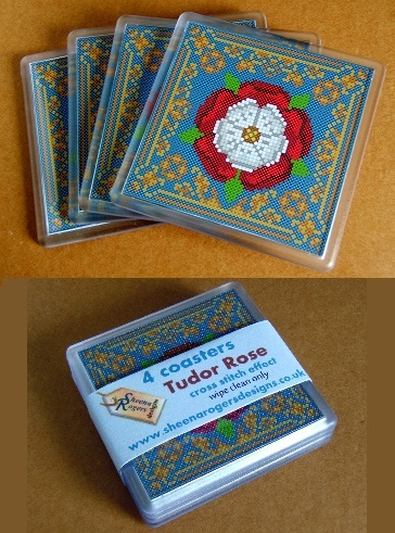 Tudor_Rose_Coaster_Set