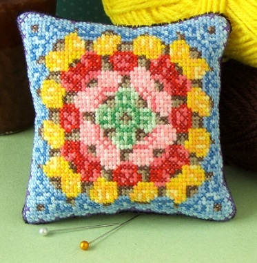 Granny_Square_pincushion_cross_stitch_kit