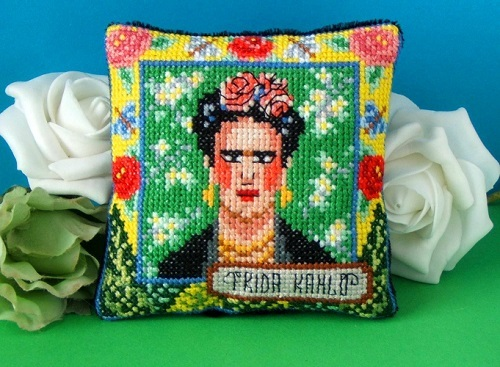Frida_Kahlo_Pincushion_Cross_Stitch_Kit