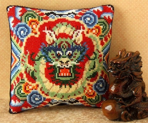 Oriental_Dragon_Mini_Cushion_Cross_Stitch_Kit
