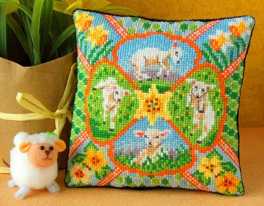 Spring_Lambs_Mini_Cushion_Cross_Stitch_Kit