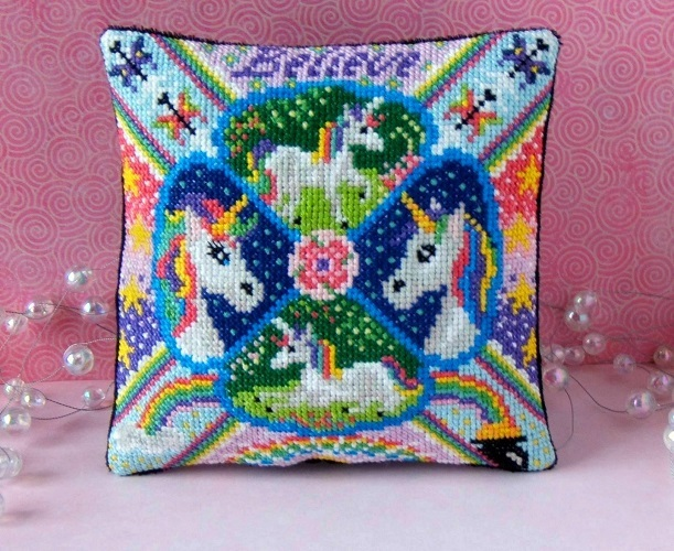 Unicorns_Mini_Cushion_Cross_Stitch_Kit