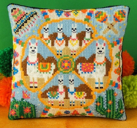 Llama_Party_Mini_Cushion_Cross_Stitch_Kit