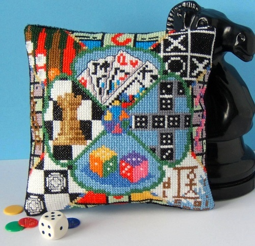 Fun_and_Games_Mini_Cushion_Cross_Stitch_Kit