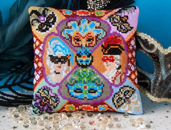 Masquerade_Mini_Cushion_Cross_Stitch_Kit