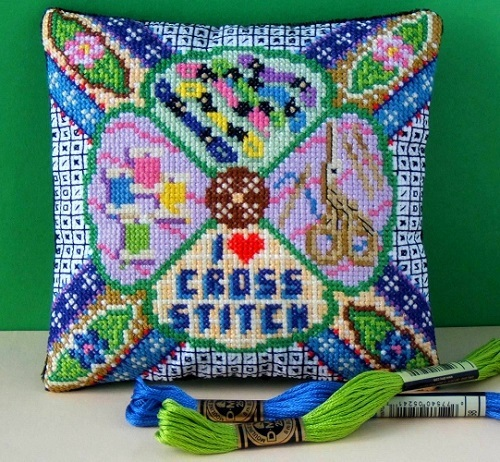 I_Love_Cross_Stitch_Mini_Cushion_Cross_Stitch_Kit
