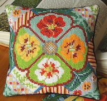 Nasturtium_Splendour_cross_stitch
