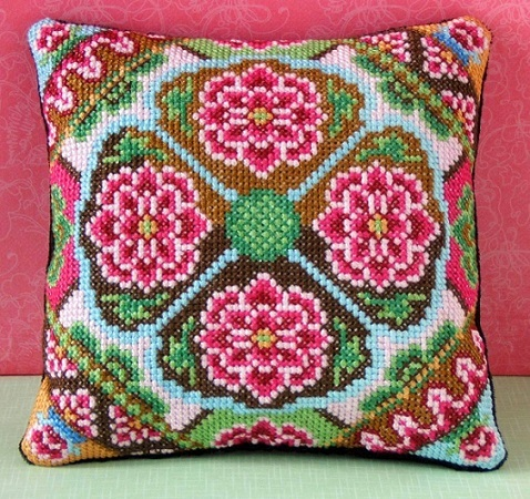 Pink_Bazaar_Mini_Cushion_Cross_Stitch_Kit