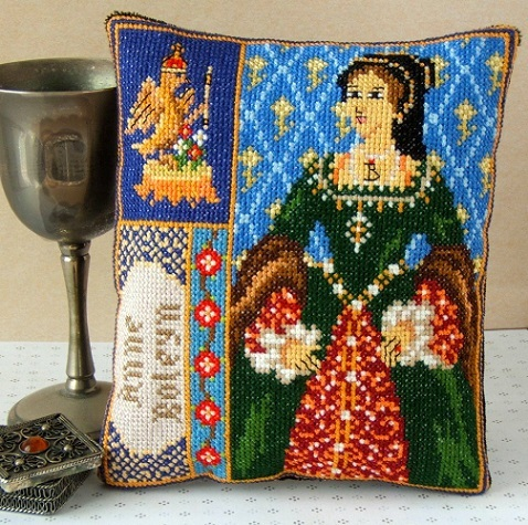 Anne_Boleyn_Triptych_Mini_Cushion_Cross_Stitch_Kit