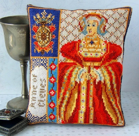 Anne_of_Cleves_Mini_Cushion_Cross_Stitch_Kit