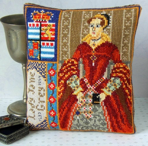 Lady_Jane_Grey_Mini_Cushion_Cross_Stitch_Kit