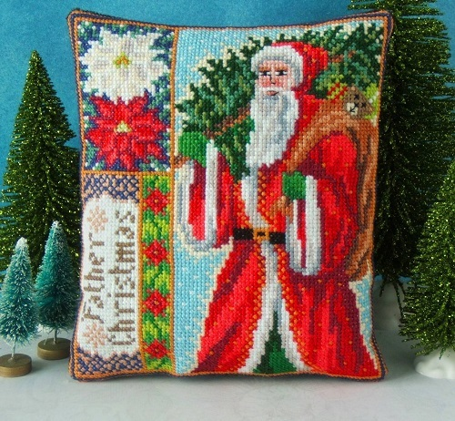 Father_Christmas_Mini_Cushion_Cross_Stitch_Kit
